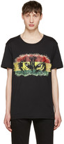Balmain Black 'Yeux de Loup' T-Shirt