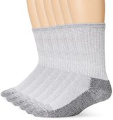 Fruit of the Loom Men's 6 Pack Heavy Duty Reinforced Crew Socks