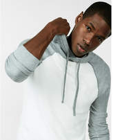 Express color blocked textured sweater hoodie