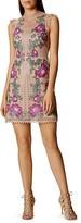 Karen Millen Floral-Embroidered Mini Dress