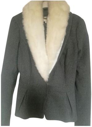 Elisabetta Franchi Grey Wool Jacket for Women