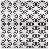Moroccan Mosaic Tile House SAMPLE - Melah Handmade Cement Tile in Black and White