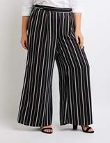 Charlotte Russe Plus Size Striped Wide Palazzo Pants