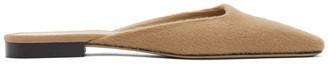 Totême Tan Cashmere Slippers