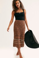 Free People Salty Point Crochet Skirt by Free People, Tapenade, XS