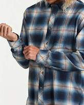 Billabong Men's Coastline Long Sleeve Flannel Shirt Blue XXL