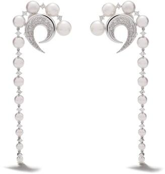 TASAKI 18kt white gold diamond Cove earrings
