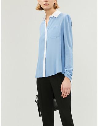 Pinko Samoiedo two-tone silk shirt