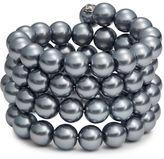 Kenneth Jay Lane Metalic Faux Pearl Bracelet