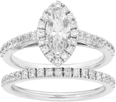 Boston Bay Diamonds 1 CT White Diamond 14K White Gold Marquise Cut 2-Piece Bridal Set