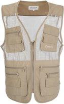 LUSI MADAM Men's Mesh Breathable Multi Pocket Fishing Vest US L/Asia 3XL