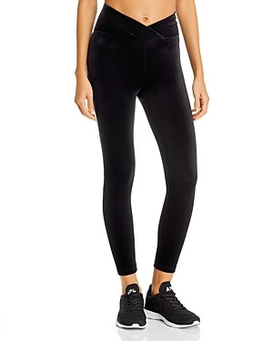 YEAR OF OURS Veronica Velvet Cropped Leggings