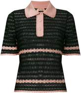 No.21 sheer polo T-shirt