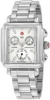 Michele Signature Deco Non-Diamond Diamond Chronograph Dial Ladies Watch