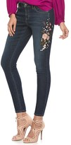 JLO by Jennifer Lopez Women's Embroidered Skinny Ankle Jeans