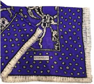 Givenchy Purple Cotton Scarves