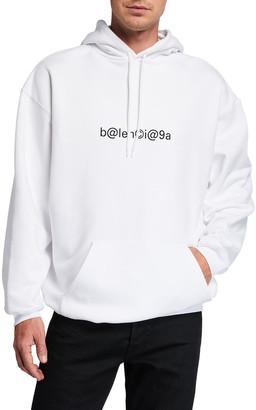 Balenciaga Men's Medium-Fit Logo Typographic Hoodie