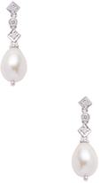 Meira T 14K White Gold, Pearl & 0.04 Total Ct. Diamond Dangle Earrings