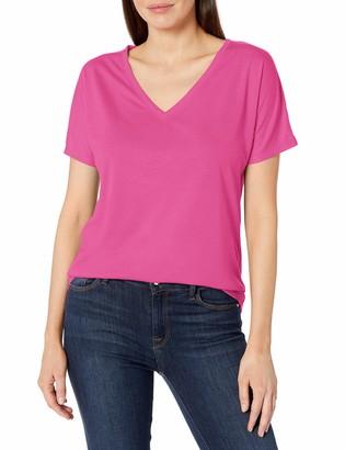 Clementine Apparel Women's Ladies Favorite Classic Flowy Simple V-Neck T-Shirt