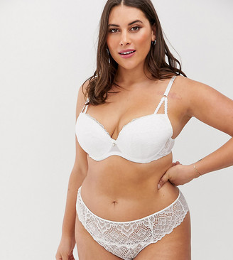 Ann Summers Curve Sexy Lace plunge bra in white