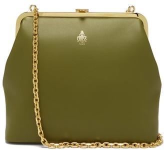 Mark Cross Susanna Gold-plated Leather Clutch Bag - Womens - Khaki Multi