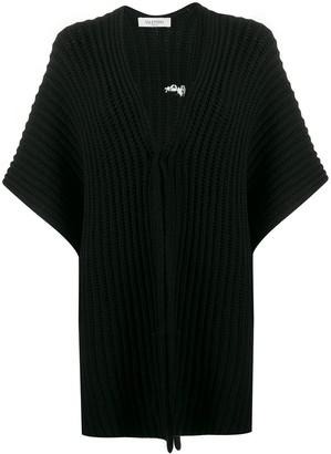 Valentino VLOGO knitted poncho