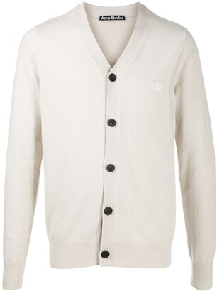 Acne Studios Face patch wool cardigan