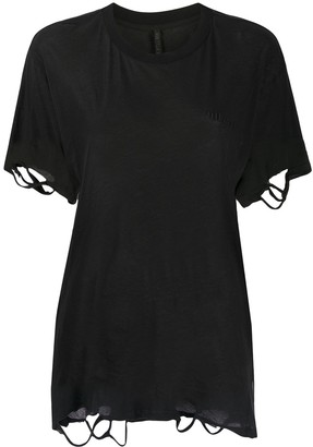 Unravel Project distressed short-sleeve T-shirt