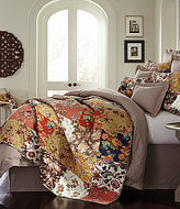 Villa by Noble Excellence Alexa Patchwork Floral Cotton Quilt Mini Set
