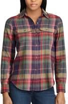 Chaps Women's Plaid Button-Down Work Shirt