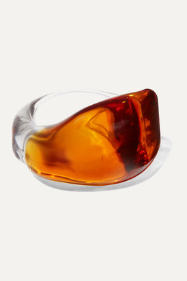 Maryam Nassir Zadeh Wave Glass Ring - Orange