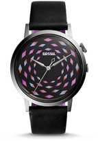 Fossil Vintage Muse Three-Hand Black Leather Watch