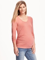 Old Navy Maternity Scoop-Neck Shirred Tee