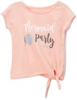 DKNY Peach Blush 'Mermaid Party' Tee - Toddler