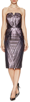 Milly Monica Strapless Metallic Dress