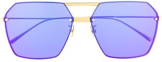 Bottega Veneta BV1045S hexagonal frame sunglasses