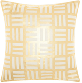 Nourison Mina Victory Luminecence Modern Basketweave Throw Pillow