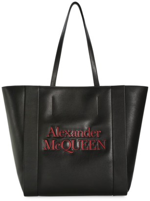 Alexander McQueen Logo Leather Shopper