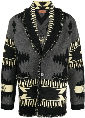 Alanui Geometric Pattern Knitted Cardigan