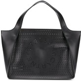 Stella McCartney Stella Logo perforated tote bag