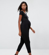 Asos Bardot Jersey Jumpsuit with Peg Leg