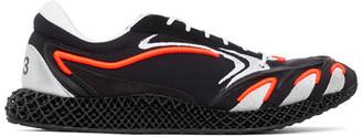 Y-3 Black and Orange Runner 4D Sneakers