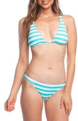 28b0883b2bddf Ralph Lauren Striped Swimsuit - ShopStyle