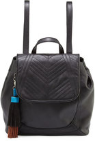 French Connection Gabby Faux-Leather Backpack, Black