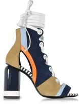 Pierre Hardy Alchimia Color Block Suede Lace Up Sandal