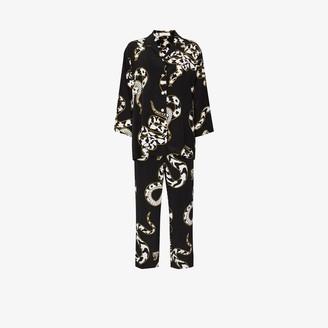 Olivia von Halle Casablanca Ciro Snake Print silk pyjamas