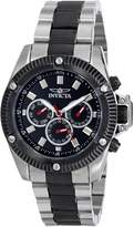 Invicta Men's II Collection Sport Stainless Steel and Black 3 EYE Multi Function Swiss Watch 5715