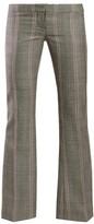 Alexander McQueen Herringbone Wool Trousers - Womens - Grey Multi