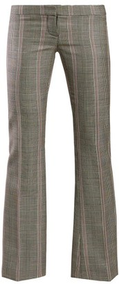 Alexander McQueen Herringbone Wool Trousers - Grey Multi