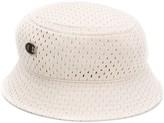 Rick Owens X Champion logo embroidered mesh bucket hat